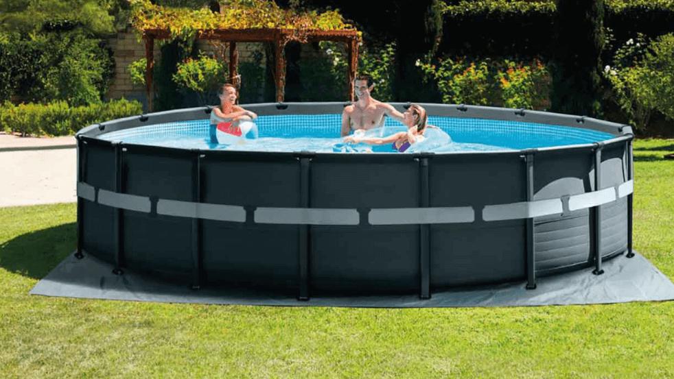 Bache piscine tubulaire photo